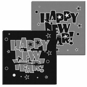 Servetten Happy New Year 20st