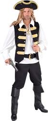 Vest Piraten Admiraal Zwart Luxe
