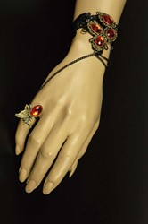 Armband Kant met Ring met Rode Stenen