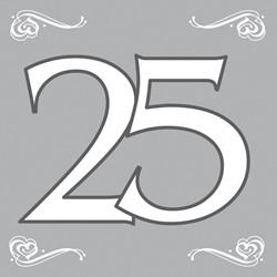 Servetten 25 Zilver 20st
