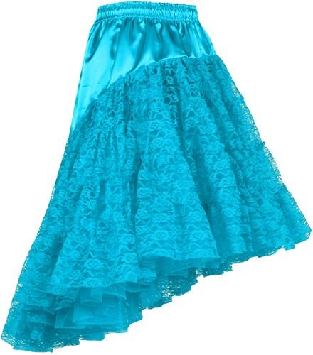 Petticoat met Kant Luxe Turquoise