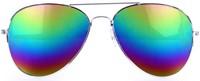Spiegelglas Pilotenbril Regenboog