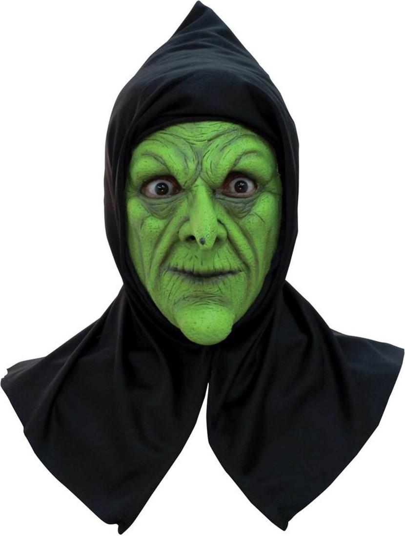 Halloween Masker.Halloween Masker Wicked Heks Latex Met Kap