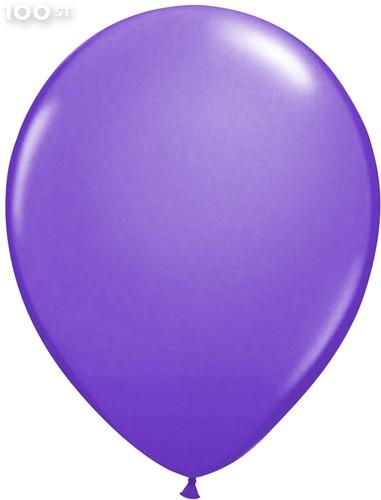 Ballonnen Metallic Paars 35cm - 100 stuks