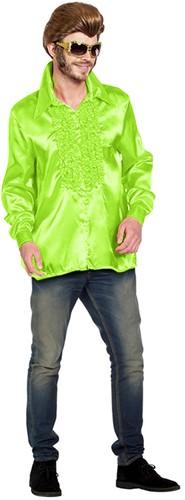 Disco Ruches Blouse Luxe Neon Groen