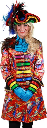 Carnavalsjas Feathers Rood voor dames