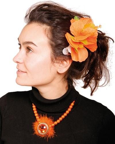 Hawai Haarclip Oranje