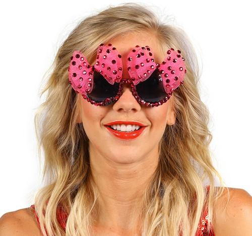Bril met Strikken Pink