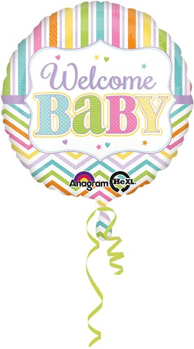 Folieballon Geboorte - Welcome Baby (43cm)