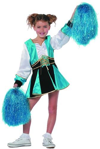 Kostuum Cheerleader Aqua voor meisjes