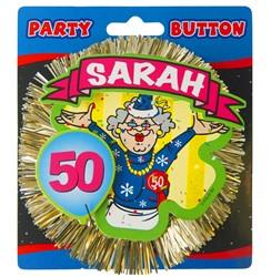 3D Button Sarah 50