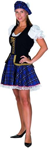 Dameskostuum Sexy Schotse Luxe Blauw