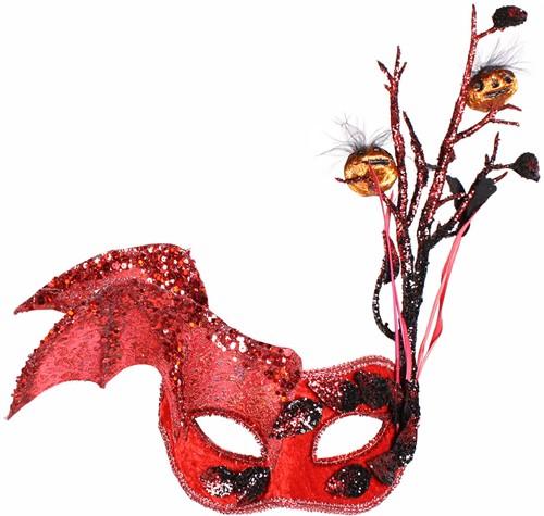 Oogmasker Halloween Rood
