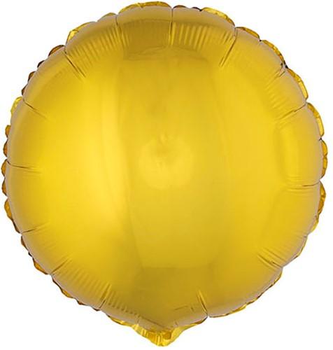 Folieballon Rond Metallic Goud (56x46cm)