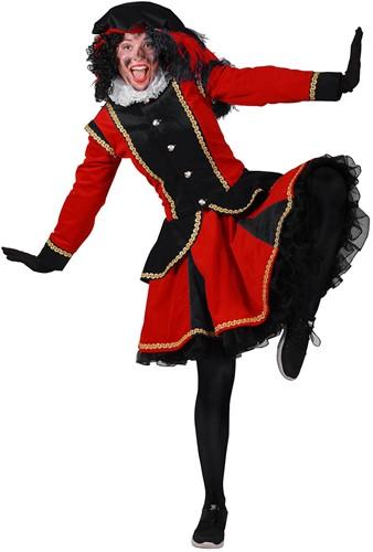 Dames Pietenpak Madrid Zwart/Rood