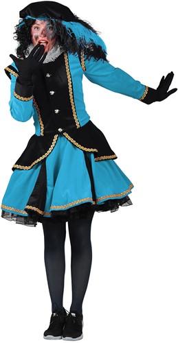 Dames Pietenpak Madrid Zwart/Turquoise