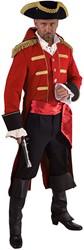 Heren Mantel Admiraal Rood