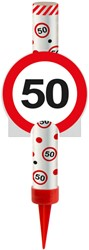 IJsfontein 50 Verkeersbord