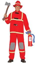 Brandweermannen Pak Rood voor heren