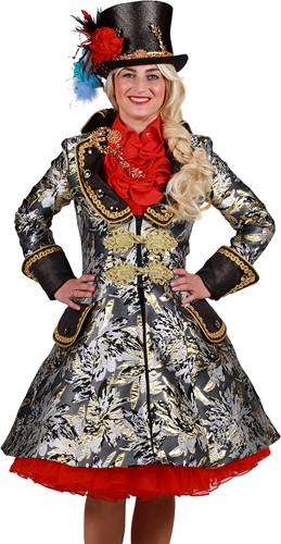 Carnavalsjas Brokaat Zwart-Goud voor dames