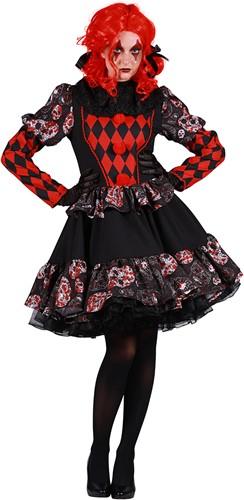 Dameskostuum Horror Clown Luxe