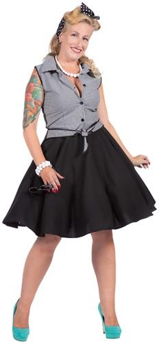 Dameskostuum Rockabilly Rizzo Zwart/Wit - Jaren 50