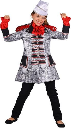 Carnavalsjas Sparkle Zilver-Zwart voor meisjes