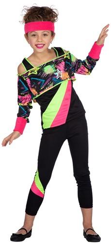 Retro Jaren 80 Aerobic Outfit voor meisjes