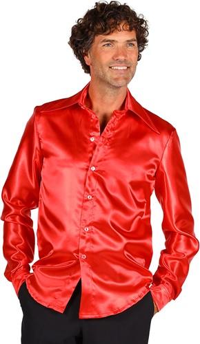 Overhemd Satijn Rood