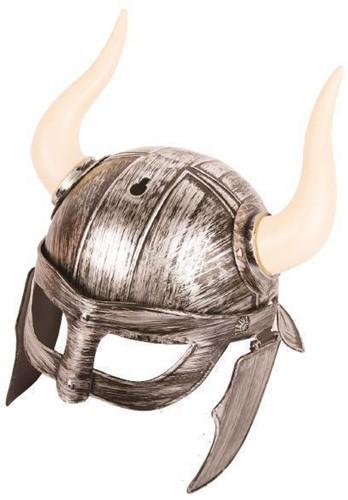 Viking Helm Warrior Zilver met Hoorns