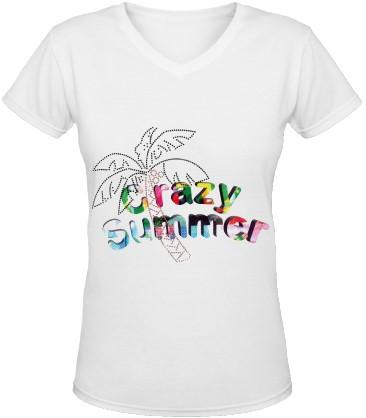 Dames T-Shirt Toppers Crazy Summer Palmtree