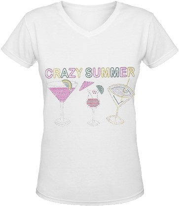 Dames T-Shirt Toppers Crazy Summer Cocktails
