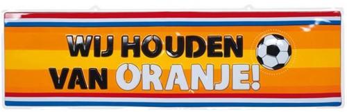 Wanddeco Wij houden van Oranje 115X35CM