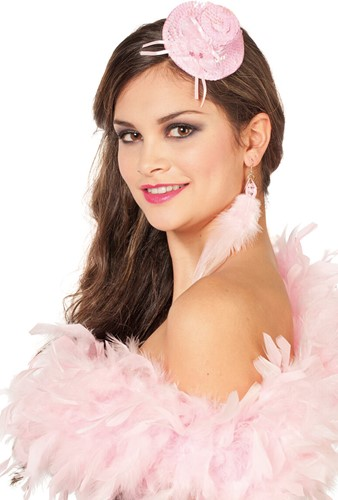 Oorbellen Veertjes Luxe Roze