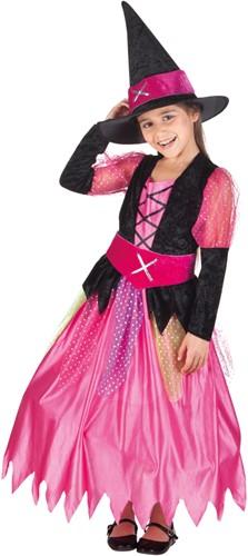 Heksenjurk Pretty Witch voor meisjes