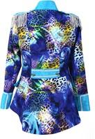Dames Blazer Blue Panther Luxe (achterkant)