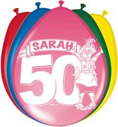 Ballonnen Sarah Stripes 8st