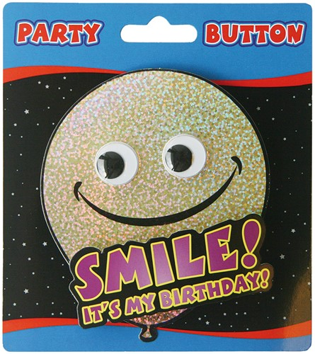 3D Button Smile, Birthday