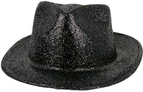 Hoed Borsalino Glitter Zwart