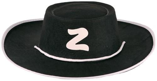Hoed Zorro Vilt Zwart