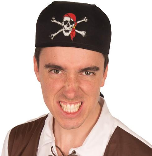 Piratenkapje Doodshoofd Print