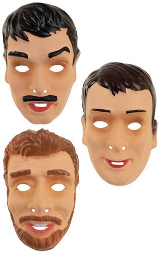 Masker Jonge Mannen Plastic Assorti