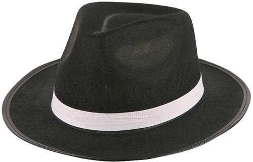 Hoed Al Capone Vilt Zwart
