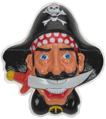 Wanddeco Piraten hoofd + dolk