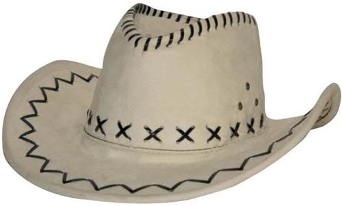 Cowboyhoed Suede Wit/Beige