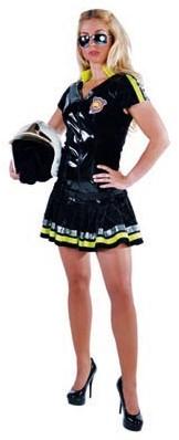 Brandweerkostuum Zwart Luxe voor dames