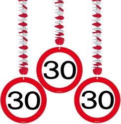 Hangdeco 30 jaar Verkeersbord