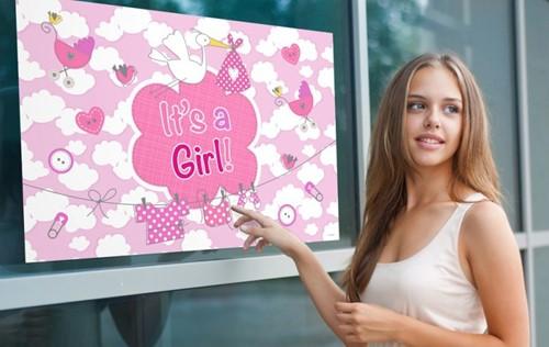 Vlag Geboorte Meisje - It's a Girl 90x60cm
