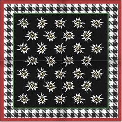 Tiroler Zakdoek - Sjaal Zwart Edelweiss