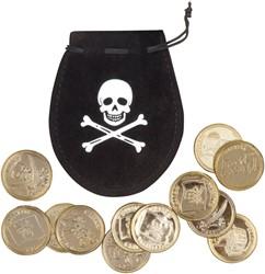 Buidel met 12 Piratenmunten